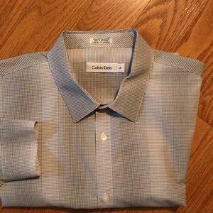 CLASSIC CALVIN KLEIN LONG SLV DRESS SHIRT L/G